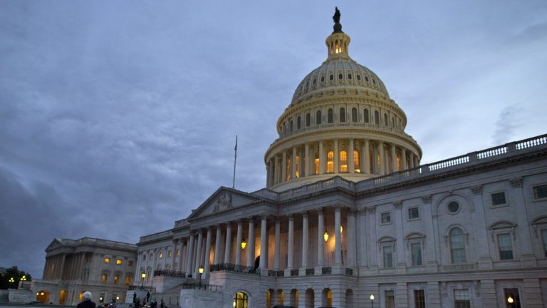 The U.S. Capitol building at dusk in Washington (Evan Vucci/AP Photo)