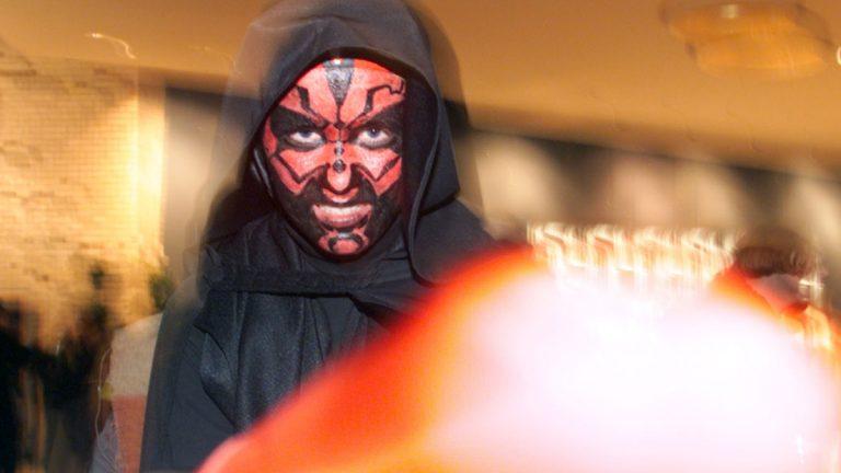 Adrian Jankowski, 17, at the 'Star Wars-Episode 1' midnight premier in Berlin in 1999 dressed like Darth Maul (Markus Schreiber/AP Photo)