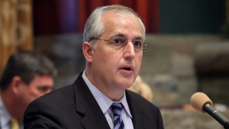 Pennsylvania Senate Majority Leader Dominic Pileggi of Delaware County is facing a challenge for leadership of the state Senate. (AP file photo)