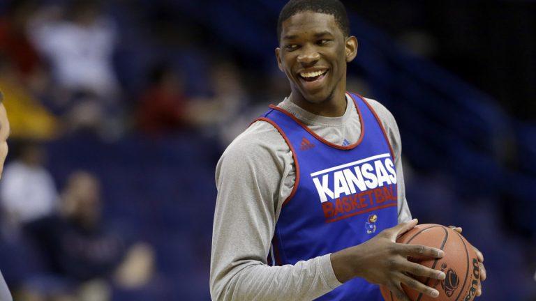 Philadelphia 76ers draft Kansas' Joel Embiid (Jeff Roberson/AP Photo)