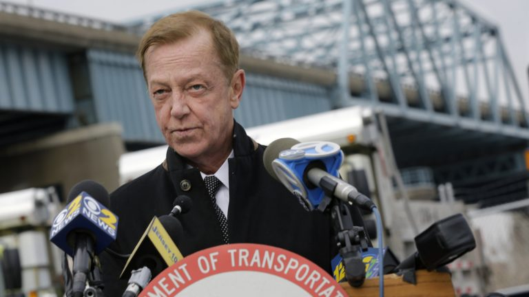 New Jersey State Transportation Commissioner Jamie Fox answers a question in this Thursday