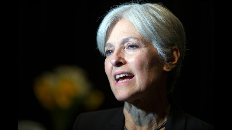 Green party presidential candidate Jill Stein meets her supporters during a campaign stop at Humanist Hall in Oakland