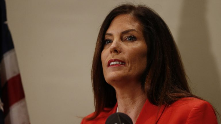 Pennsylvania Attorney General Kathleen Kane speaks during a news conference in Scranton