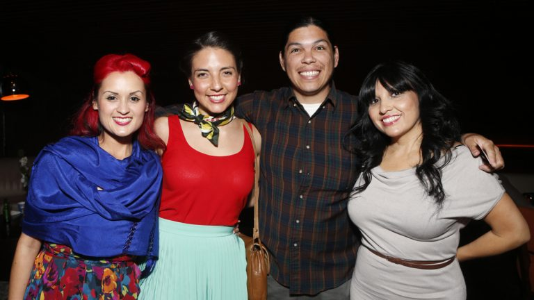 Las Cafeteras pictured in Los Angeles, California in 2012 (Photo by Todd Williamson/Invision for Pantelion/AP Images)
