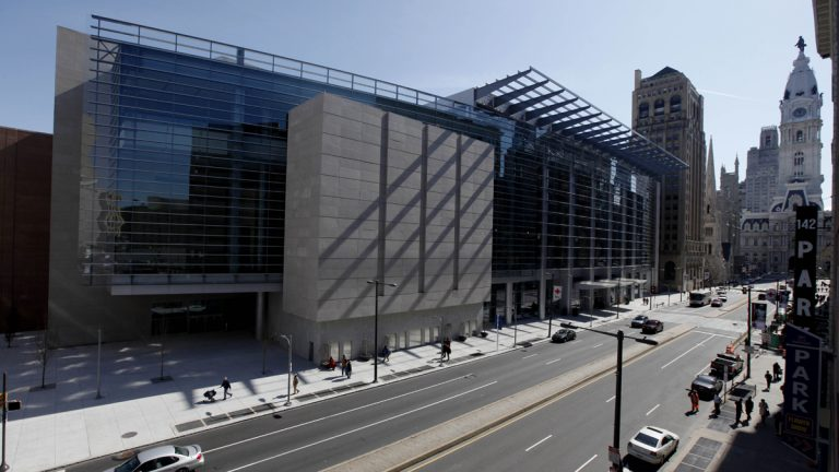 The Pennsylvania Convention Center is seen in view of City Hall (Matt Rourke/AP Photo)