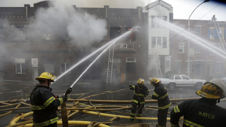 Firefighters battle a fire in Philadelphia (Matt Rourke/AP Photo, file)