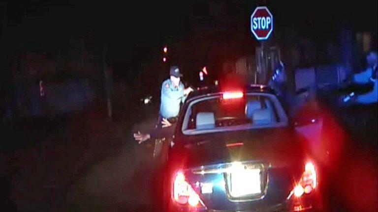 A screen grab from an officer's dashboard camera taken Dec. 30