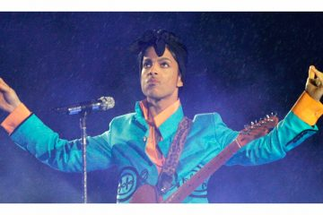 Prince performs during the halftime show at the Super Bowl XLI football game at Dolphin Stadium in Miami on Sunday