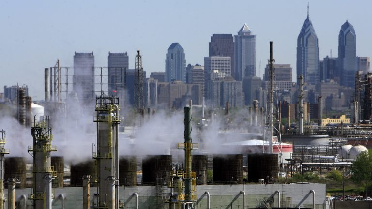 This file photo, shows the Sunoco Philadelphia Refinery,the oldest and largest refinery on the East Coast. (Matt Rourke/AP Photo, file)
