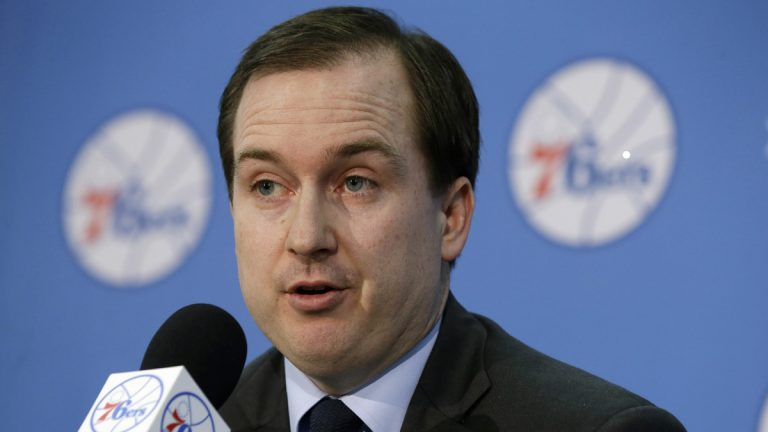 Philadelphia 76ers General Manager Sam Hinkie in July. (AP Photo/Matt Rourke)