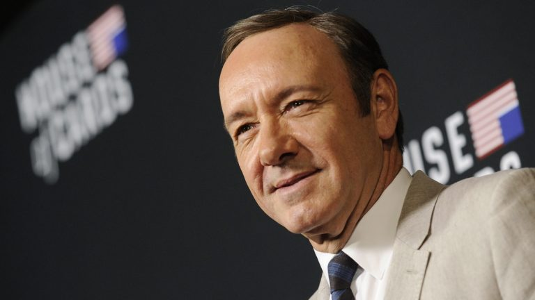 Kevin Spacey arrives at a special screening for season 2 of
