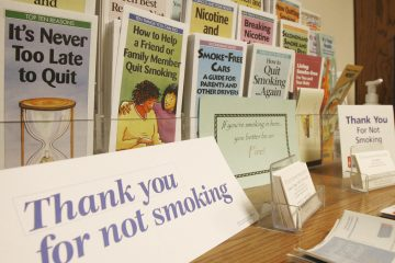Stop smoking materials on display. (Toby Talbot/AP Photo, file)