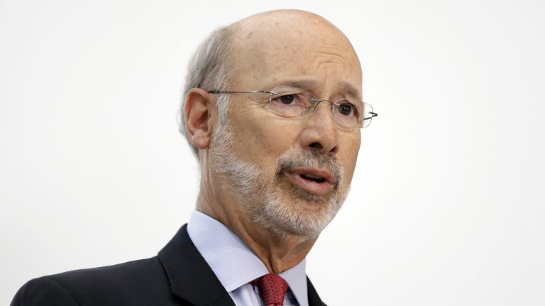 Pennsylvania Gov. Tom Wolf is considering combining various functions in the executive branch — particularly in administrative technology and human resources — as one way of cutting costs.(Matt Rourke/AP Photo)