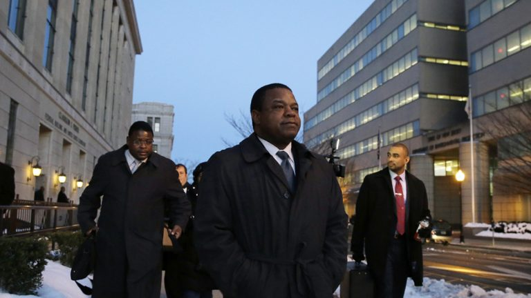 Trenton Mayor Tony Mack (center) was found guilty of corruption (Mel Evans/AP Photo, file)
