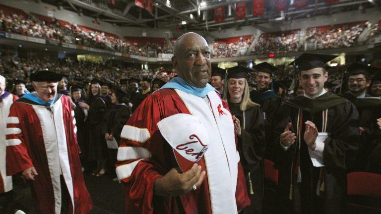 Comedian Bill Cosby appears at Temple University's commencement in Philadelphia in 2011. (AP Photo/Matt Rourke, File)