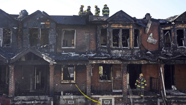 A fire in July 2014 that killed four children prompted the Philadelphia Fire Department to study communities at higher risk for fire fatalities. (AP Photo/Michael Perez