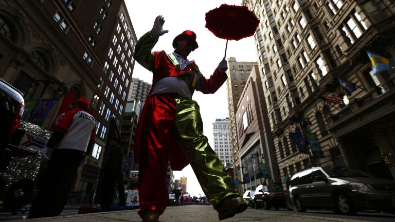 A Mummer struts during the annual New Year's Day parade in 2014. The actions of some Mummers have cast a shadow over the event. (Matt Rourke/AP Photo)