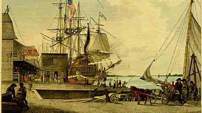 The Arch Street wharf