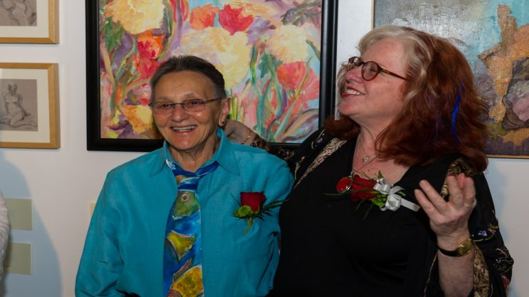 A photo of Arleen Olshan (left) and Linda Slodki (right) on their wedding day. (Courtesy of Arleen Olshan and Linda Slodki)