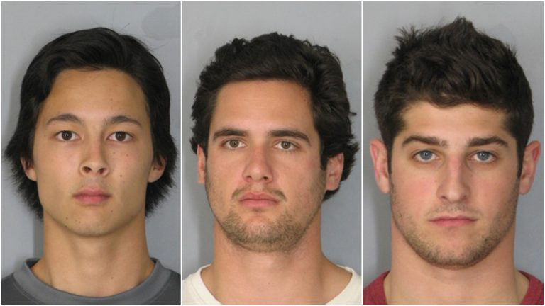 Andrew Lee, Ayrton Doerr and Jason Zimmell face charges including home invasion and assault. (photos courtesy Newark PD)