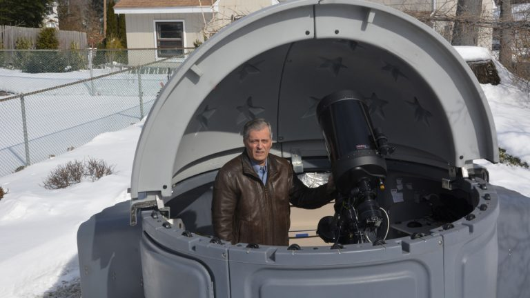 Astronomer Kevin Alton at home in Cedar Knolls