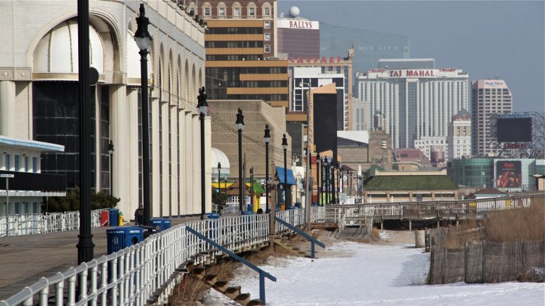 Atlantic City Boardwalk in winter (Emma Lee/WHYY