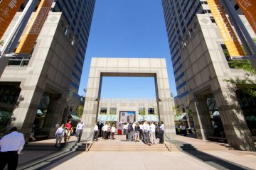 Axalta Coating Systems announces the relocation of its headquarters to the Commerce Square complex at 20th and Market streets in Center City Philadelphia. (Nathaniel Hamilton/for NewsWorks)
