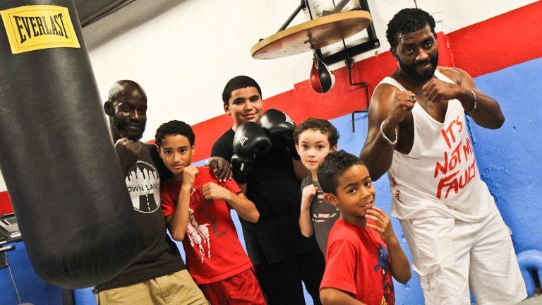 From left: Trainer Sharif Brown, Alan Gonzalez, 13; Khadir Gaitan, 12; Amir Gonzalez, 9; Devon Rosa, 7; and Shawn