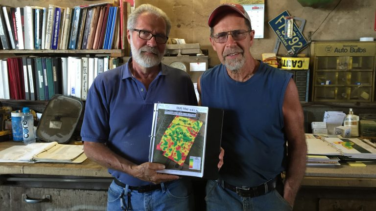 Dave and Ed Baker have been farming their land in Delaware since the 1960s. They started adopting precision ag technology in 2002. (Irina Zhorov/The Pulse)