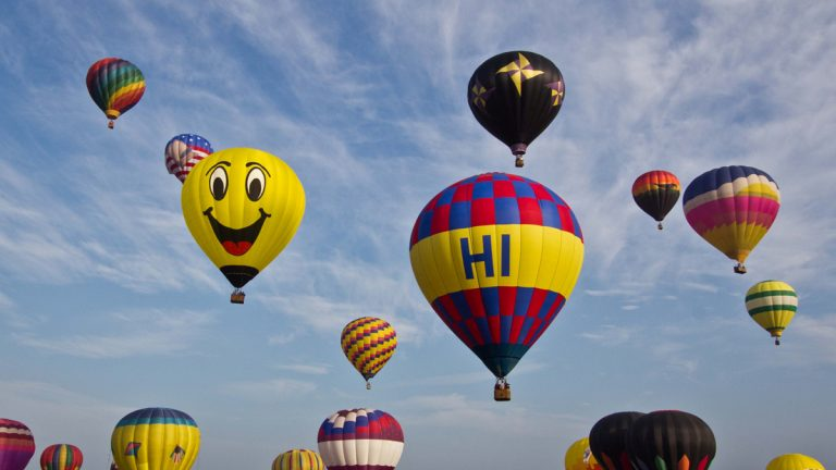 The 33rd annual QuickChek New Jersey Festival of Ballooning, the largest summertime hot air balloon and music festival in the country, returns July 24-26. Pictured: Mass ascension courtesy of QuickChek New Jersey Festival of Ballooning.