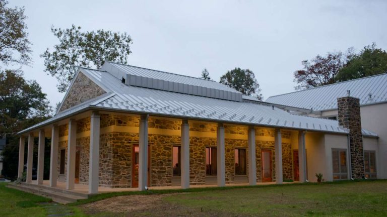 The Skyspace at the Chestnut Hill Friends meetinghouse is offering special viewings for the holidays. (Bas Slabbers/for NewsWorks, file)