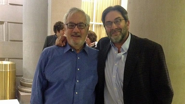 Barney Frank and Dick Polman at the Free Library of Philadelphia (Image courtesy of Polman)