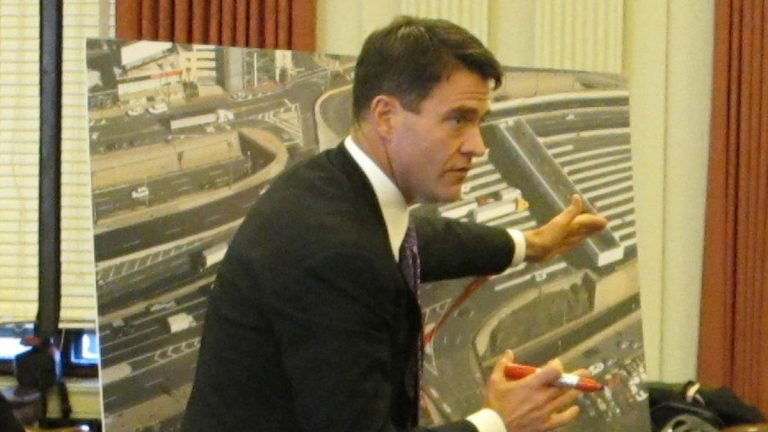 Bill Baroni testifying before the New Jersey Assembly's Transportation Committee last month. (Photo by Phil Gregory)