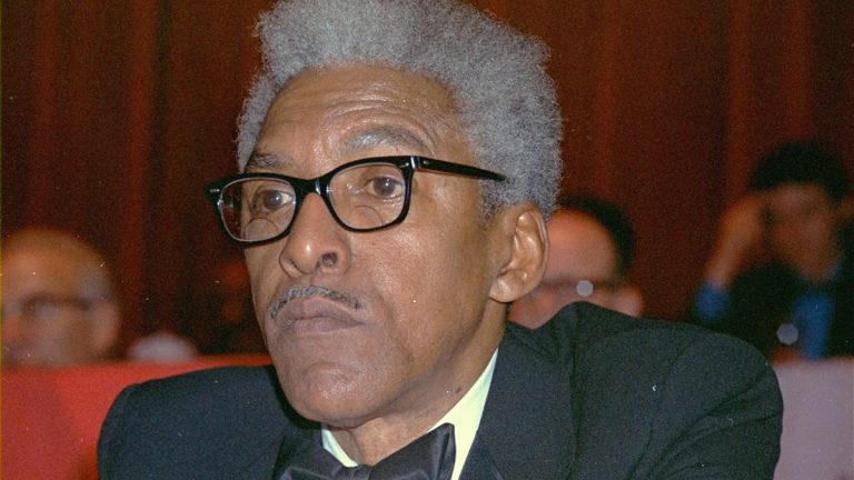 "Civil rights leader Bayard Rustin is shown in New York in 1970. Months before Martin Luther King Jr. declared ""I Have a Dream"" to galvanize a crowd of thousands, Rustin was planning all the essential details to make the 1963 March on Washington a success. Rustin, who died in 1987, is sometimes forgotten in civil rights history. He had been an outcast. He was a Quaker, a pacifist who opposed the Vietnam war and had flirted with communism. And he was gay. (AP Photo/File)"