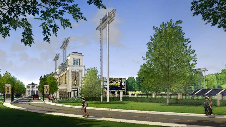 An artist's rendering of what the renovated Baynard Stadium will look like. (photo courtesy city of Wilmington)
