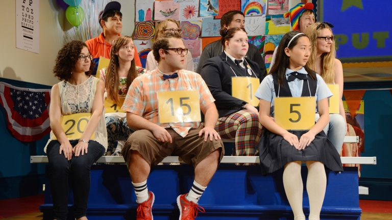 Start the new school year with The 25th annual Putnam County Spelling Bee, onstage at Bucks County Playhouse through September 6. Photo by Mandee Kuenzle for Bucks County Playhouse.