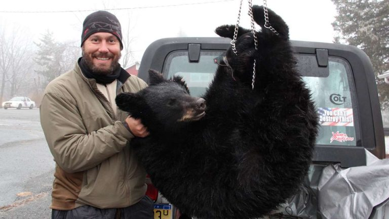 Buck Holly traveled from Florida in 2013 to take part  in New Jersey's 2013 bear hunt. (NewsWorks file photo)