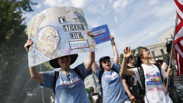 Supporters of Sen. Bernie Sanders