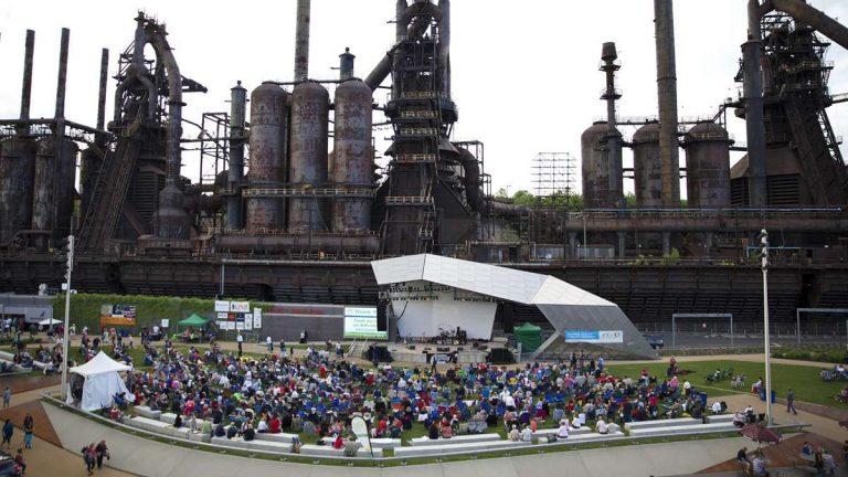 Steel Stacks, in Bethlehem, Pennsylvania, inspired by Landschaftspark in Germany (Lindsay Lazarski/WHYY)
