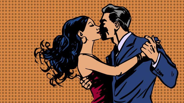 (<a href='http://www.bigstockphoto.com/image-91581482/stock-vector-man-and-woman-kiss-dance-tango-pop-art'>Bigstock.com</a>)