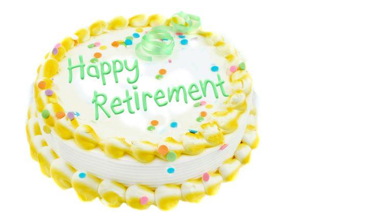 (<a href='http://www.bigstockphoto.com/image-5441131/stock-photo-happy-retirement-festive-cake'>Big Stock Photo</a>)