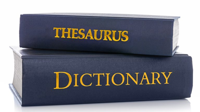 (<a href='http://www.bigstockphoto.com/image-73181494/stock-photo-a-thesaurus-and-dictionary-isolated-on-a-white-background'>Big Stock</a>)