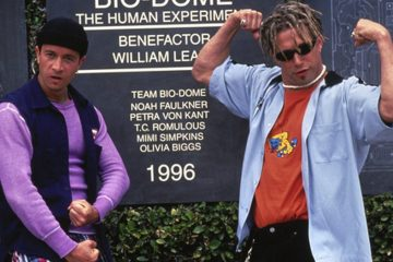 """Pauly Shore (left) and Stephen Baldwin starred in """"Bio-Dome,"""" a 1996 movie about two friends who locked themselves in a bio-dome for one year with environmental science students. (Photo by Motion Picture Corporation America)"""