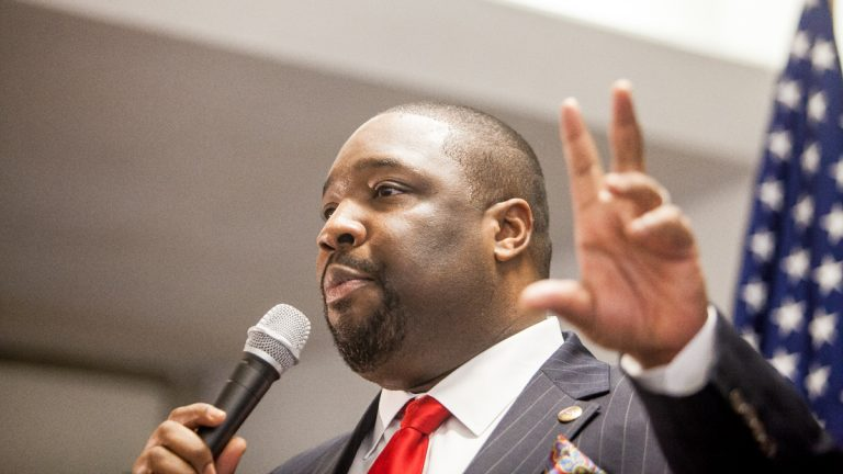 City Councilman Kenyatta Johnson is seeking re-election. (Brad Larrison/for NewsWorks)