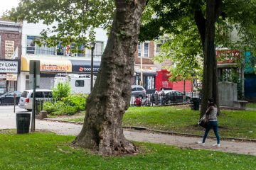 Concerns about loitering in Vernon Park arose again after a recent shooting there. (Brad Larrison/for NewsWorks)