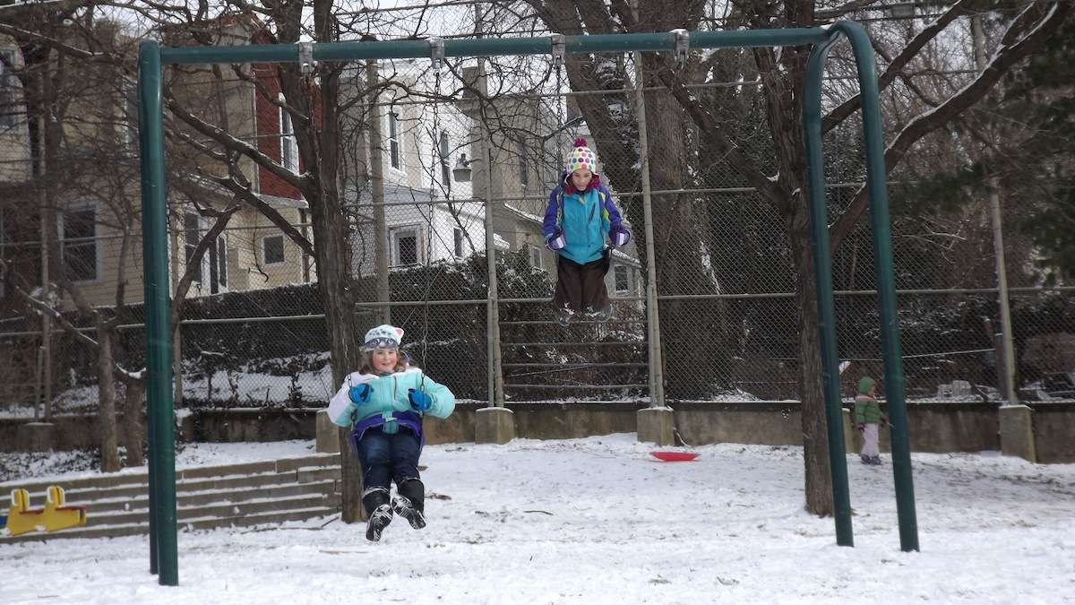 Playing in LaNoce Park. (Courtesy of Laila Seseg Chakars)