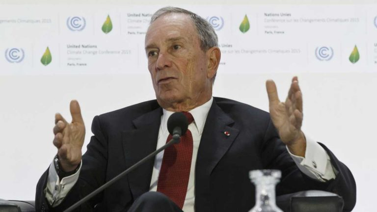 Former New York City Mayor Michael Bloomberg at The United Nations Climate Change Conference last December. (Michel Euler/AP Photo)