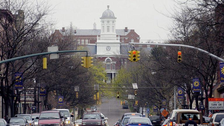Bloomsburg University in Bloomsburg, Pennsylvania.