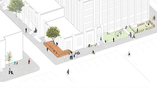 (Knight Cities Challenge) A rendering of the proposed South Philly Stoop project.