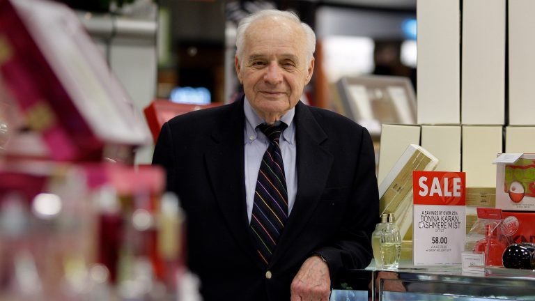 Al Boscov stands in the cosmetics department at his Boscov's department store in Reading